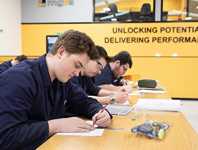Technical support technician apprentices technical drawing