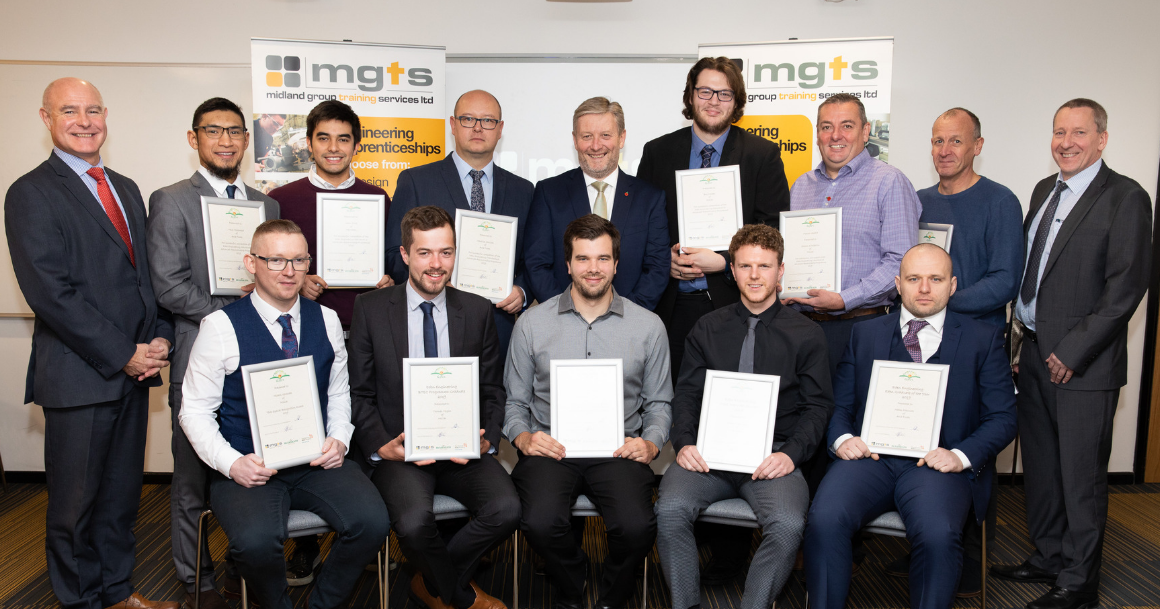 Cohort of MGTS Students receiving their graduation certificates