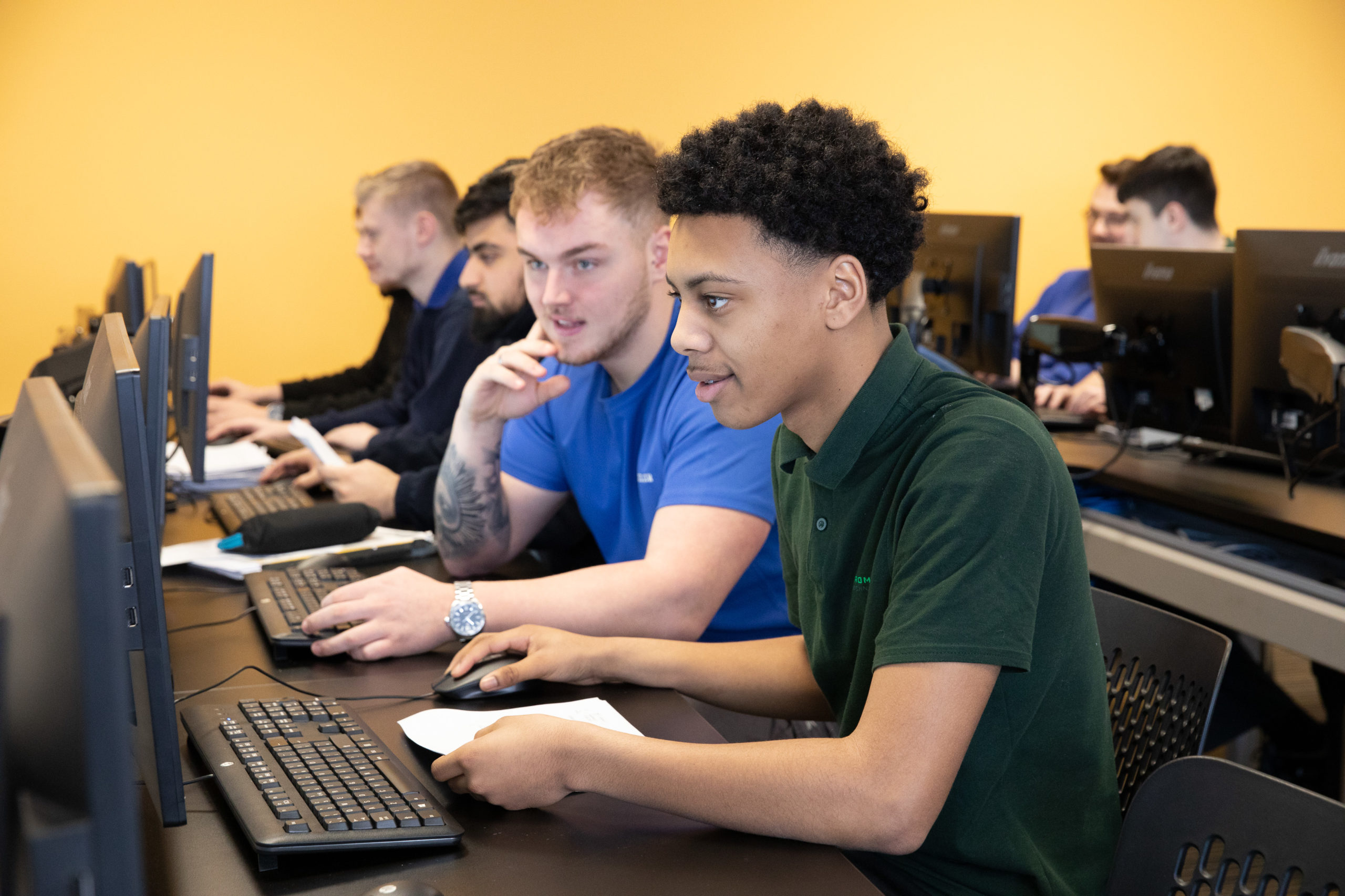Engineering Apprentices learning CAD skills