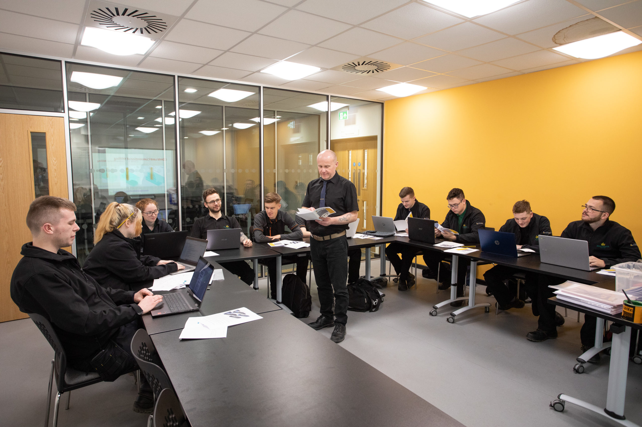 Food and Drink Engineering Maintenance Technician apprentices listening to classroom lecture