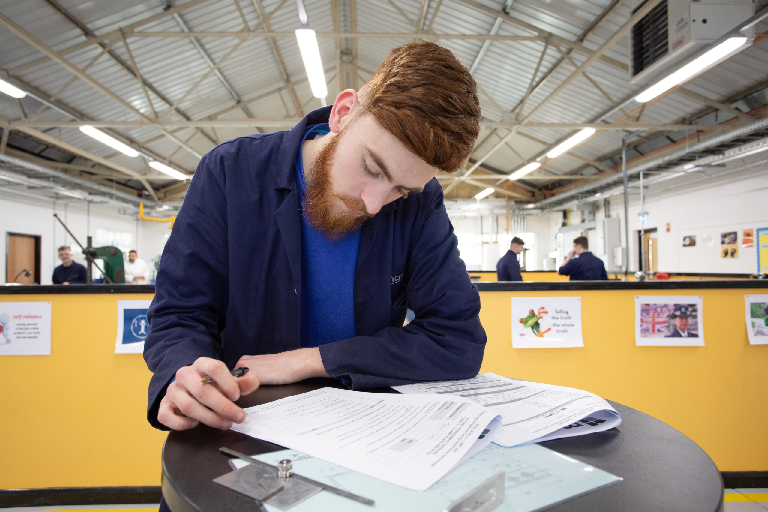Product Design & Development apprentice working on coursework