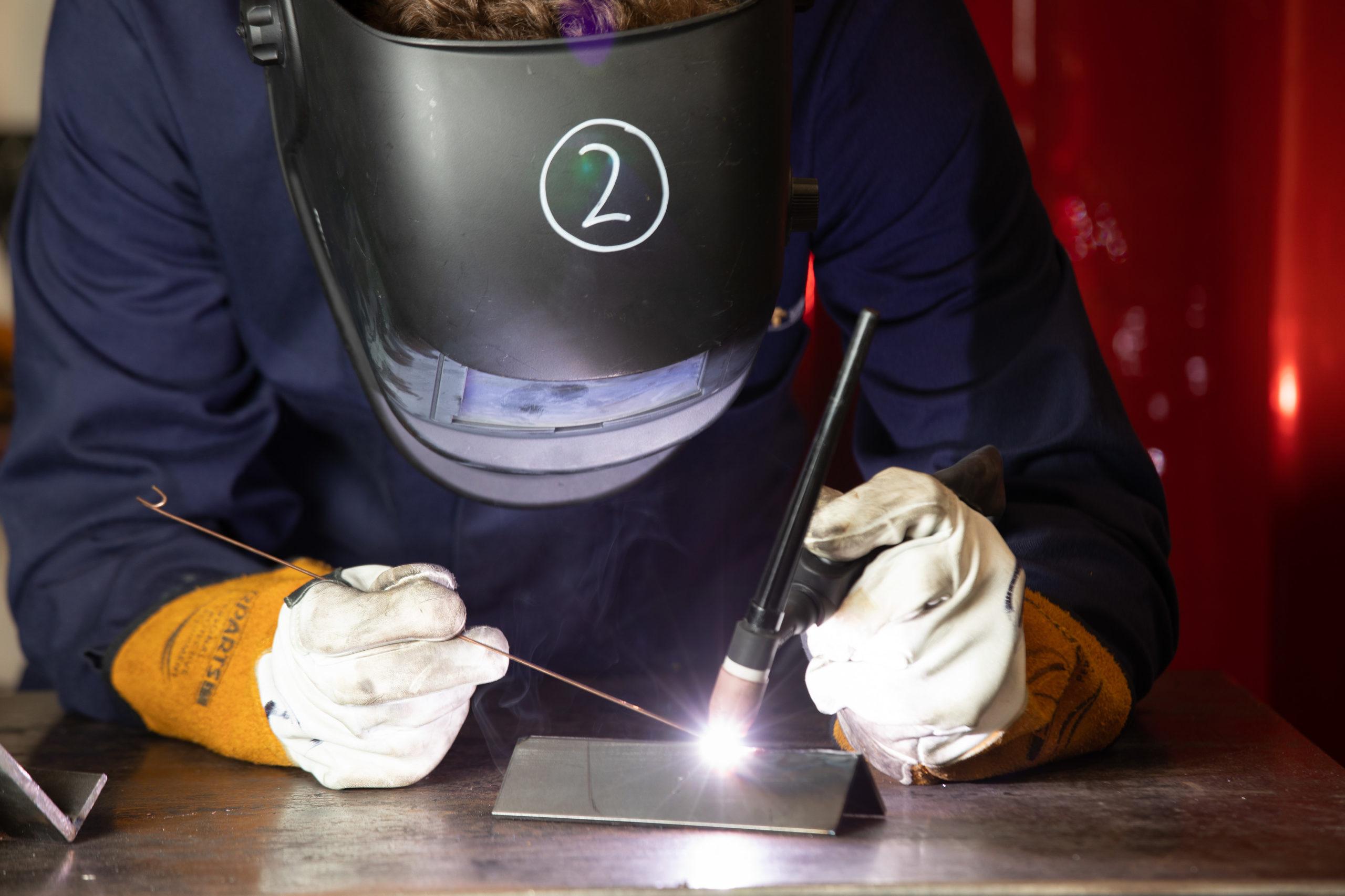 Toolmaker and Tool & Die Maintenance Technician apprentice welding