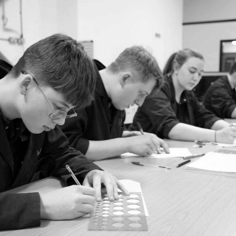 Product design & development apprentices technical drawing